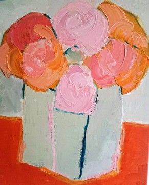 'Flowers in Tilted Vase' SOLD