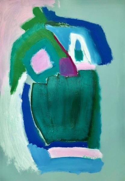 'Green Pot in Garden'